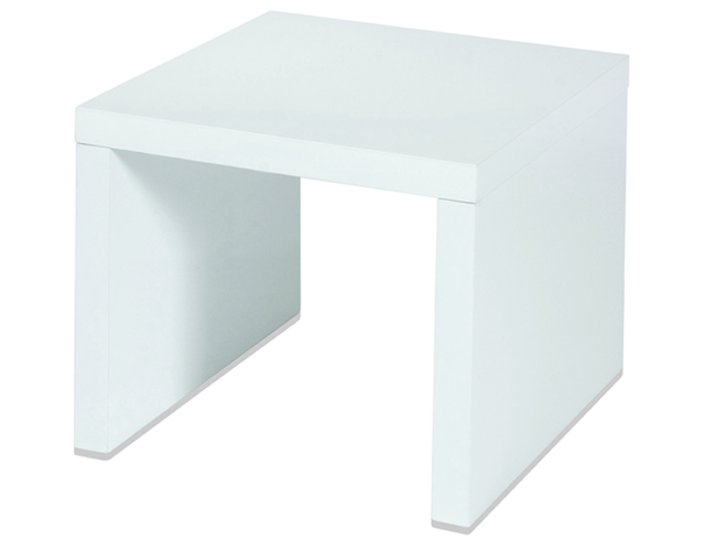 ST45WG - LEVV White High Gloss Side Table.